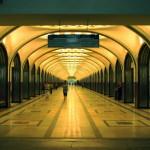 Estación Mayakovskaya en el metro de Moscú