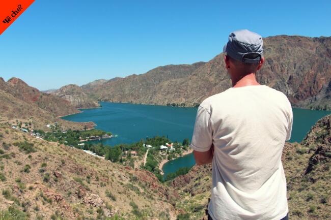 Contemplando el paisaje en Mendoza